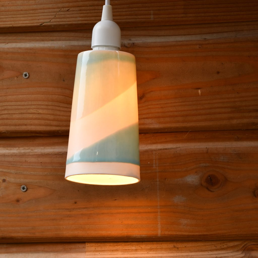 Luminaire en porcelaine suspension