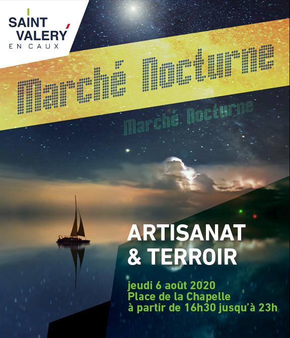 Marché artisanal nocturne St Valery en Caux