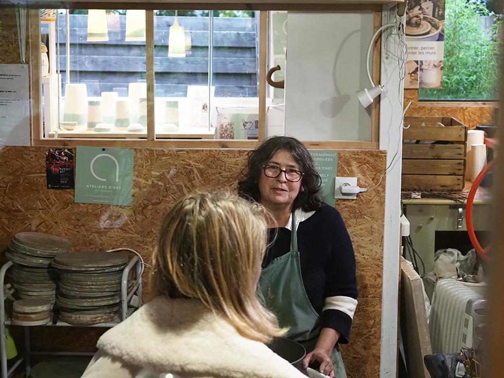 Julie - tournage à l 'atelier