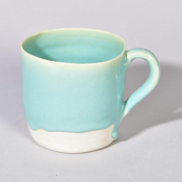 mug en porcelaine couleur lagon normandie