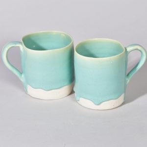 Porcelaine couleur lagon
