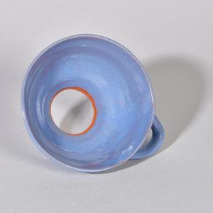 Entonnoir à confiture bleu lin clair en grès de Noron