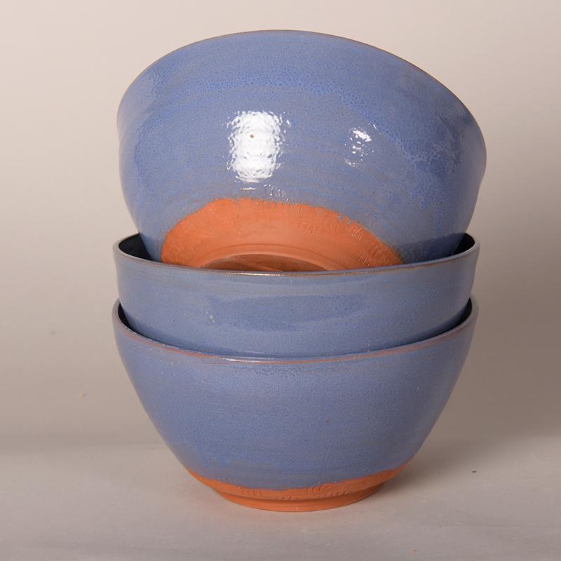 Bols en grès de Noron bleu lin foncé