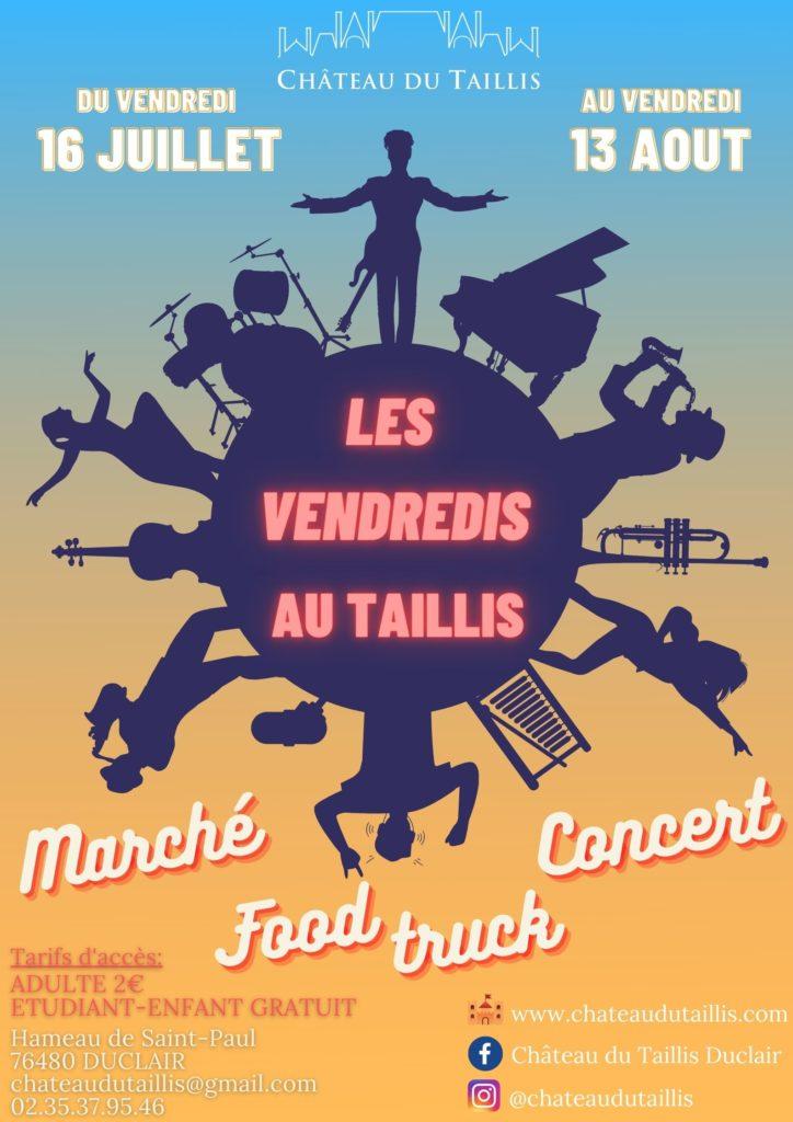 Château du Taillis marché nocturne-concert