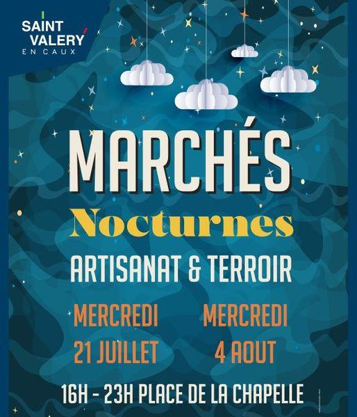 marché nocturne St Valery en Caux